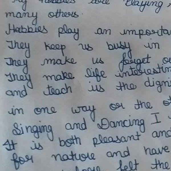 My Hobby Essay Examples