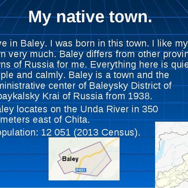 My Native Town Essay Examples