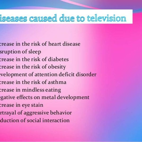 Negative Effects Of Television Essay Examples