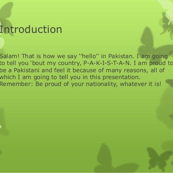 Our Country Pakistan Essay Examples