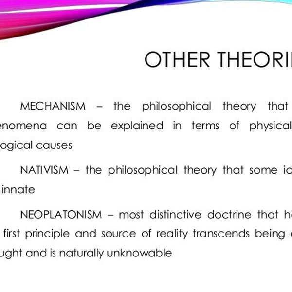Philosophical Theories Essay Examples