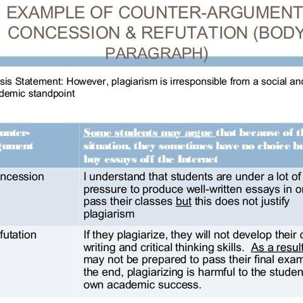 Plagiarism In An Argumentative Essay Examples
