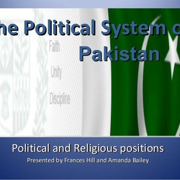 Political System Of Pakistan Essay Examples