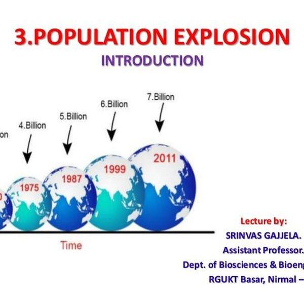 Population Explosion Essay Examples