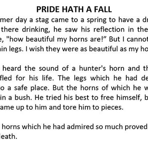 Pride Hath A Fall Essay Examples
