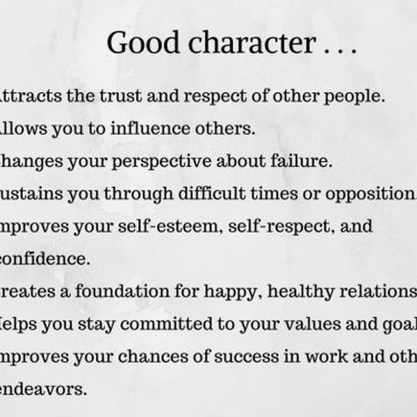Qualities Of A Good Person Essay Examples