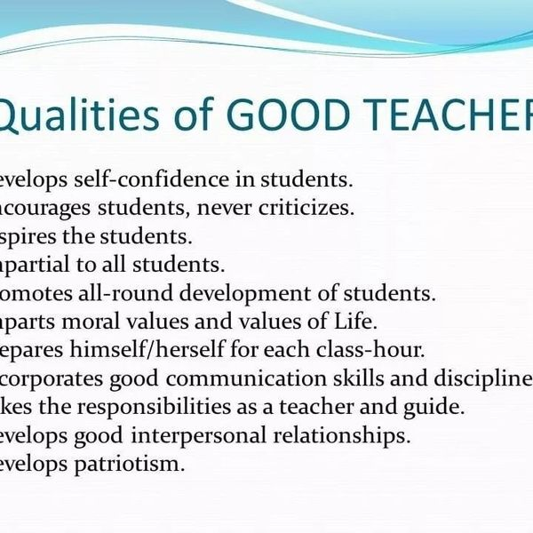Quality Of Good Teacher Essay Examples