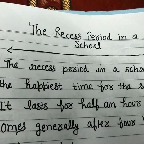 Recess Time In My School Essay Examples