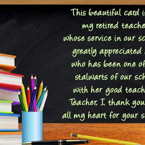 Retirement Of Teacher Essay Examples