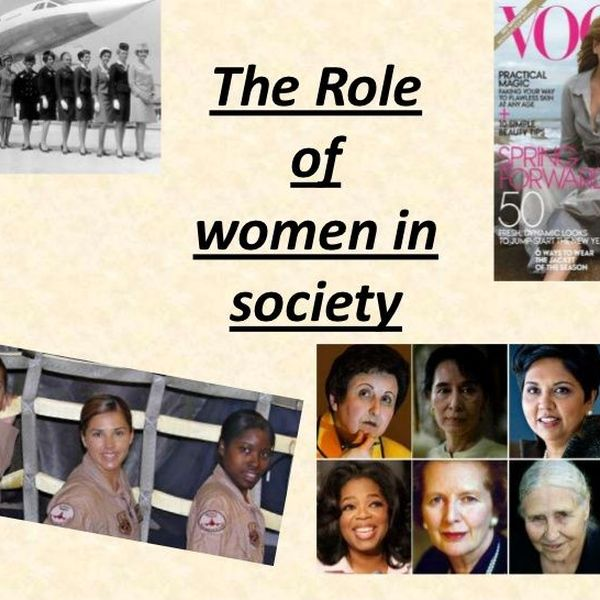 Role Of Woman In Society Essay Examples