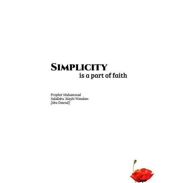 Simplicity In Islam Essay Examples