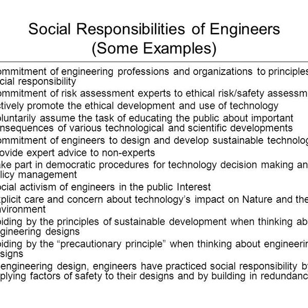 Social Responsibility Of Engineers Essay Examples