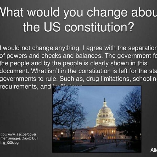 The Constitution And Change Essay Examples