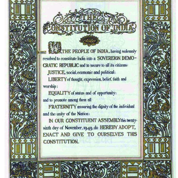 The Constitution Of India Essay Examples