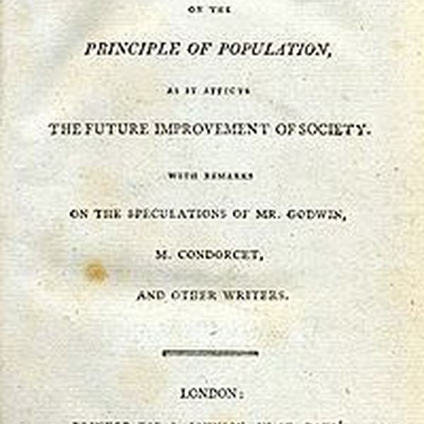 The Principle Of Population Malthus Essay Examples