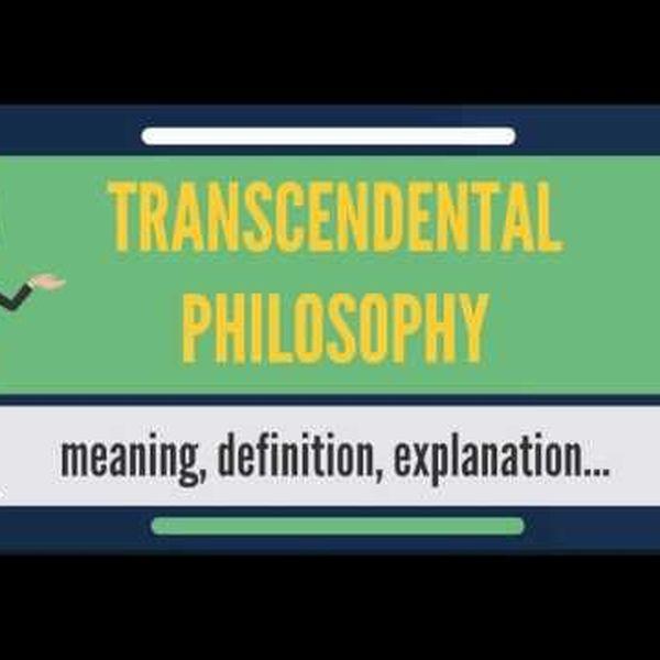 Transcendental Philosophy Essay Examples