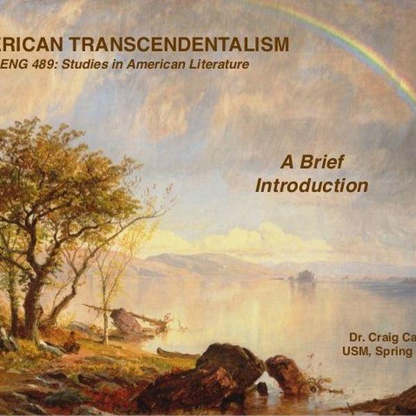 Transcendentalism Essay Examples