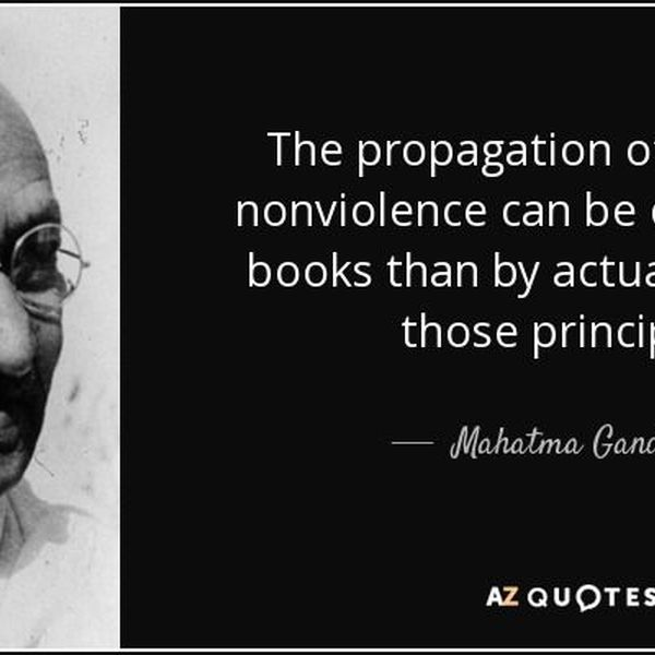 Truth And Nonviolence Essay Examples