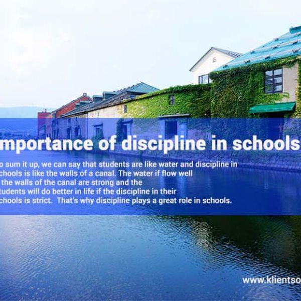 Value Of Discipline In School Essay Examples