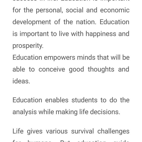 Value Of Education In Life Essay Examples