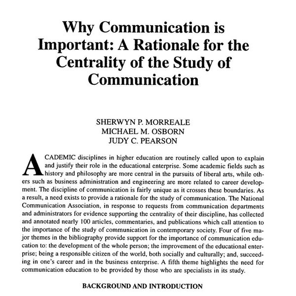Why Communication Is Important Essay Examples