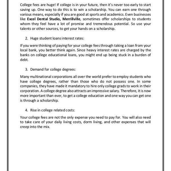 Why I Need A Scholarship Essay Examples