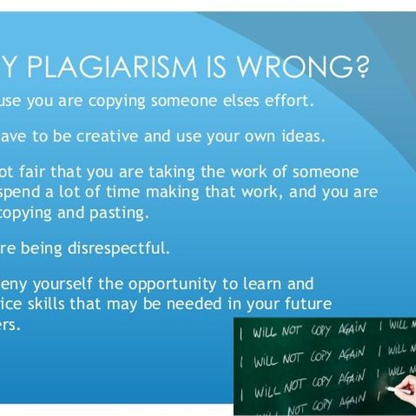 Why Plagiarism Is Wrong Essay Examples