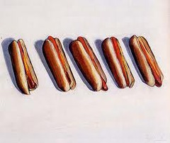 Five Hot Dogs by Thiebaud
