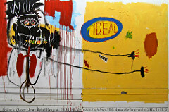Jean-Michel Basquiat She Installs Confidence and Picks His Brain Like a Salad, 1987 Acrylic and oil paintstick on wood 92½ x 116 1/8 inches