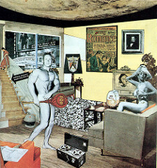 Just what is it that makes today's home so different, so appealing?  Richard Hamilton Mid 20th Century British  1st work of POP ART. Pop art begins in London by