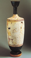 Lekythos with a Warrior's Farewell