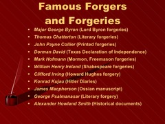 Literary Forgery