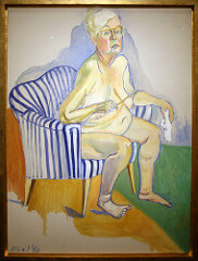 Nude self portrait  Alice Neel Late 20th century American  Alice got her first personal art show at the age of 84. Her early work consisted of expressionistic, distorted children. Now she creates portraits that are frank and revealing.