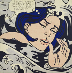 Roy Lichtenstein Drowning Girl, 1963 Pop art, Oil and synthetic polymer paint on canvas 67 5⁄8 in × 66 3⁄4 in