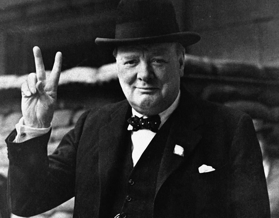 The british prime minister winston churchill