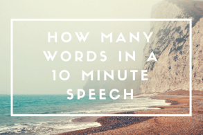 How Many Words in a 10 Minute Speech