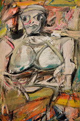 Willem de Kooning Woman, I, 1950-1952 Oil on canvas 6' 3 7/8 x 58 inches